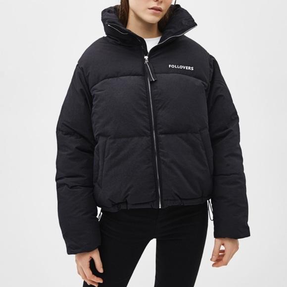 52b6879eea8 Bershka Jackets & Blazers - Bershka 'Follovers' Puffer Jacket